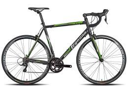 Bici Corsa Legnano LG36  Sora 18V Nero Opaco Verde Fluo Bianco
