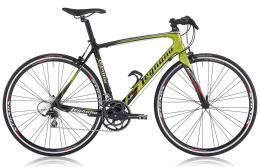 Bici Ibrida Legnano Flat Bar LG34 105 Mix Carbon Verde Legnano Rosso