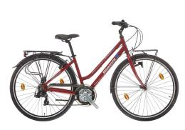City Bike Bianchi Spillo Rubino Donna 21V V-Brake Rosso