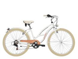 City Bike Cicli Adriatica Cruiser Lady 26 6V TY21 Bianco