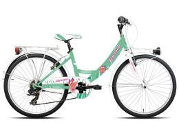 City Bike Legnano Fantasy 24 Monotubo 6V TZ50 Verde Fucsia