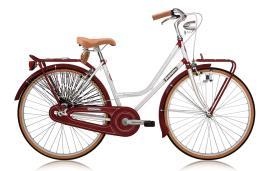 City Bike Vintage Legnano Donna 26 1V Bianco Bordeaux