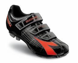 Scarpa Mountain Bike Diadora X-Trivex - Nero - Rosso Fluo
