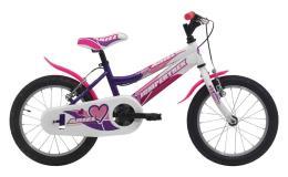 Bici Bambina Cinzia Ariel 16 1V  Viola Bianco