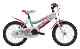 Bici Bambina Cinzia Ariel 16 1V Acquamarina Bianco