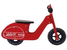 Bici Bambino Bernardi Senza Pedali Legno Vola 50 Rosso