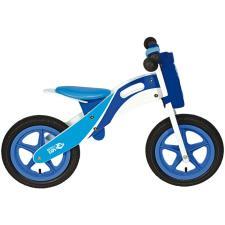 Bici Bambino BRN Legno Racing Blu