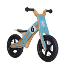 Bici bambino Legno Rebel Kidz 12 Wood Air Blu Arancione