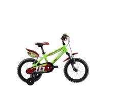 Bici Bambino Lombardo Augusta 16 Verde Nero Lucido