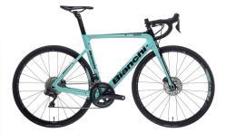 Bici Corsa Bianchi Aria Disc Ultegra DI2 11V Compact Celeste