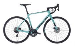 Bici Corsa Bianchi Infinito XE Disc Ultegra 22v Celeste Nero Lucido
