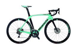 Bici Corsa Bianchi Oltre XR3 Disc Ultegra DI2 11v Celeste Nero