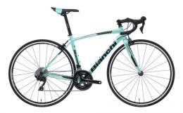 Bici Corsa Bianchi Via Nirone 7 105 22V Celeste Nero Lucido