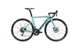 Bici Corsa Elettrica Bianchi Aria E-Road 22V Ultegra Celeste Nero