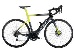 Bici Corsa Elettrica Vektor Gavia Ultegra DI2 Disc Polini Nero Giallo
