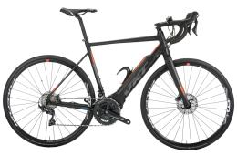 Bici Corsa Elettrica Vektor Xonar Ultegra Disc Polini Nero Arancio