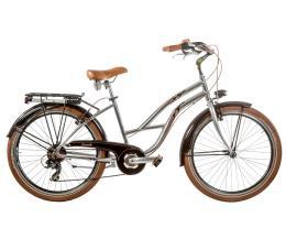 Bici Cruiser Cicli Casadei 26 Donna 7V Alluminio Lucido