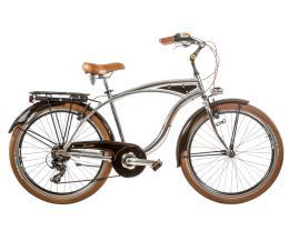 Bici Cruiser Cicli Casadei 26 Uomo 7V Alluminio Lucido