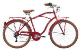 Bici Cruiser Cinzia Moody 26 Uomo 6V Rosso Porpora