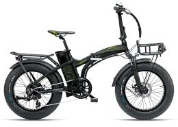 Bici Elettrica Pieghevole Armony Asso 20 250W Nero verde