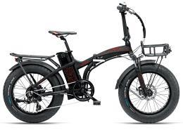 Bici Elettrica Pieghevole Armony Asso 20 Brushless 250W Nero Rosso