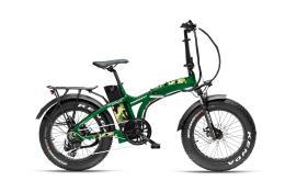 Bici Elettrica Pieghevole Armony Asso 20 Brushless 250W Verde Militare