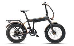 Bici Elettrica Pieghevole Armony Asso Pro 20 6V Nero Grigio Arancio