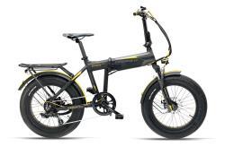 Bici Elettrica Pieghevole Armony Asso Pro 20 6V Nero Grigio Giallo