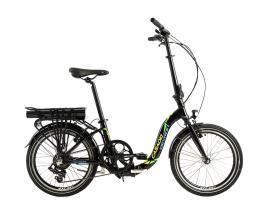 Bici Elettrica Pieghevole Cicli Casadei Folding 20 7V Nero