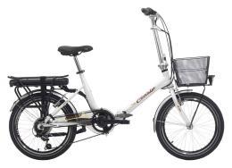 Bici Elettrica Pieghevole Cinzia Sfera 20 6V 250W Bianco Perla