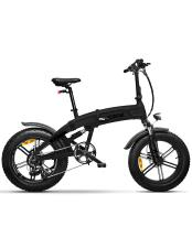 Bici Elettrica Pieghevole iCone ICross X7 Total Deep Nera