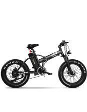 Bici Elettrica Pieghevole Icone iMonster Black 20 7V Nera
