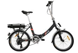 Bici Elettrica Pieghevole Italwin Flipper 20 11.6Ah Nero Rossa