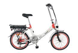 Bici Elettrica Pieghevole Italwin Flipper 20 8,7Ah 36V Bianco