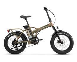 Bici Elettrica Pieghevole Lombardo Appia 7V Marrone Militare