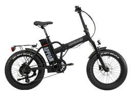 Bici Elettrica Pieghevole Lombardo Appia 7V Nera