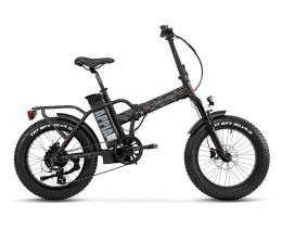 Bici Elettrica Pieghevole Lombardo Appia 7V Nero Militare