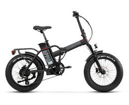 Bici Elettrica Pieghevole Lombardo Appia 7V Nero Opaco