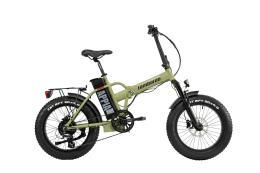 Bici Elettrica Pieghevole Lombardo Appia 7V Verde Militare Nero