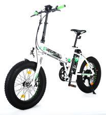 Bici Elettrica Pieghevole Raptor 20 250W Bianco Verde