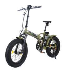 Bici Elettrica Pieghevole Raptor 20 250W Verde Militare
