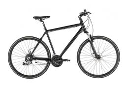 Bici Ibrida Alpina All Terrain 28 Uomo 27V Nero Opaco