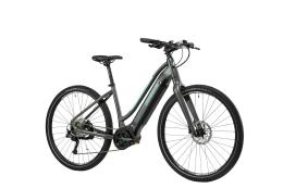 Bici Ibrida Elettrica Lombardo Bolsena Sport Donna 28 9V Titanio