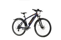 Bici Ibrida Elettrica Lombardo Valderice Fitness 28 21V Blu Grigio