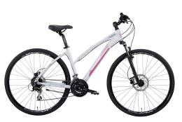 Bici Ibrida Montana X-Cross 28 Dona Acera 24V Bianco Fucsia