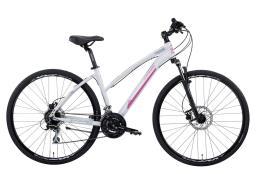 Bici Ibrida Montana X-Cross 28 Donna Acera 21V Bianco Fucsia