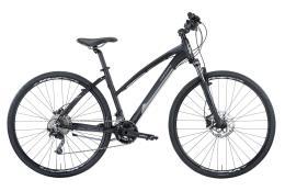 Bici Ibrida Montana X-Cross 28 Donna Acera 21V Nero Grigio