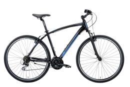 Bici Ibrida Montana X-Cross 28 Man Acera 21V Nero Blu