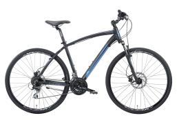 Bici Ibrida Montana X-Cross 28 Man Acera 24V Nero Blu