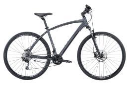 Bici Ibrida Montana X-Cross 28 Man Acera 24V Nero Grigio